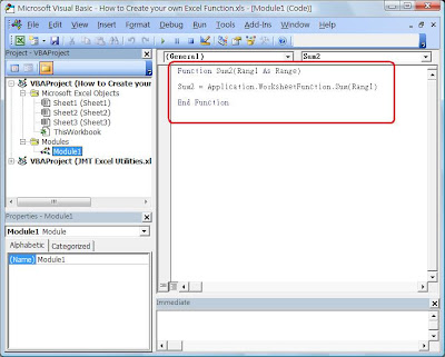 How to Create your own Excel Function – VBA Syntax Function