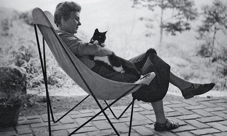 Elisabeth Bishop and a cat