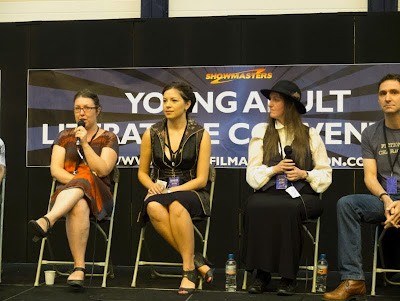 Bring Me My Dragons: Writing Fantasy Today panel with Frances Hardinge, Amy McCulloch, Jonathan Stroud and Ruth Warburt at London YA Lit Con (YALC)