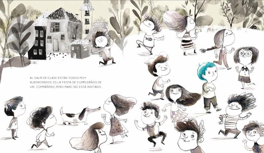 album-ilustrado-no-me-han-invitado-al-cumpleaños-nubeocho-valores