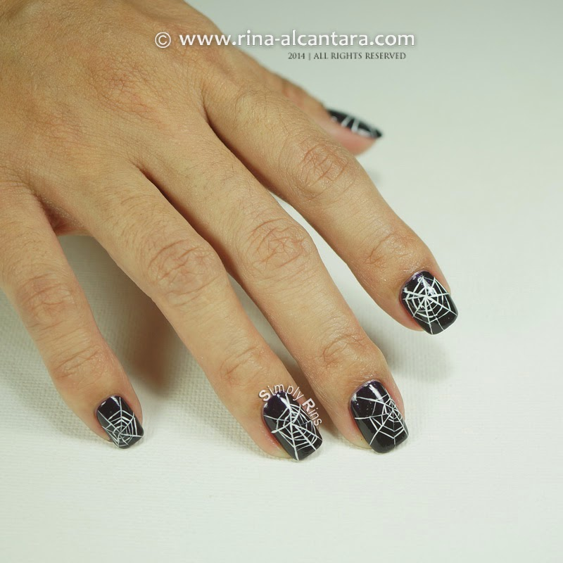 Cobwebs Nail Art for Halloween
