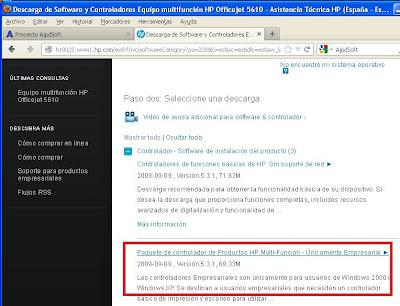 Instalar impresora compartida en red desde equipo con Windows XP