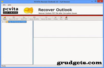 Outlook PST repair tool review - UI