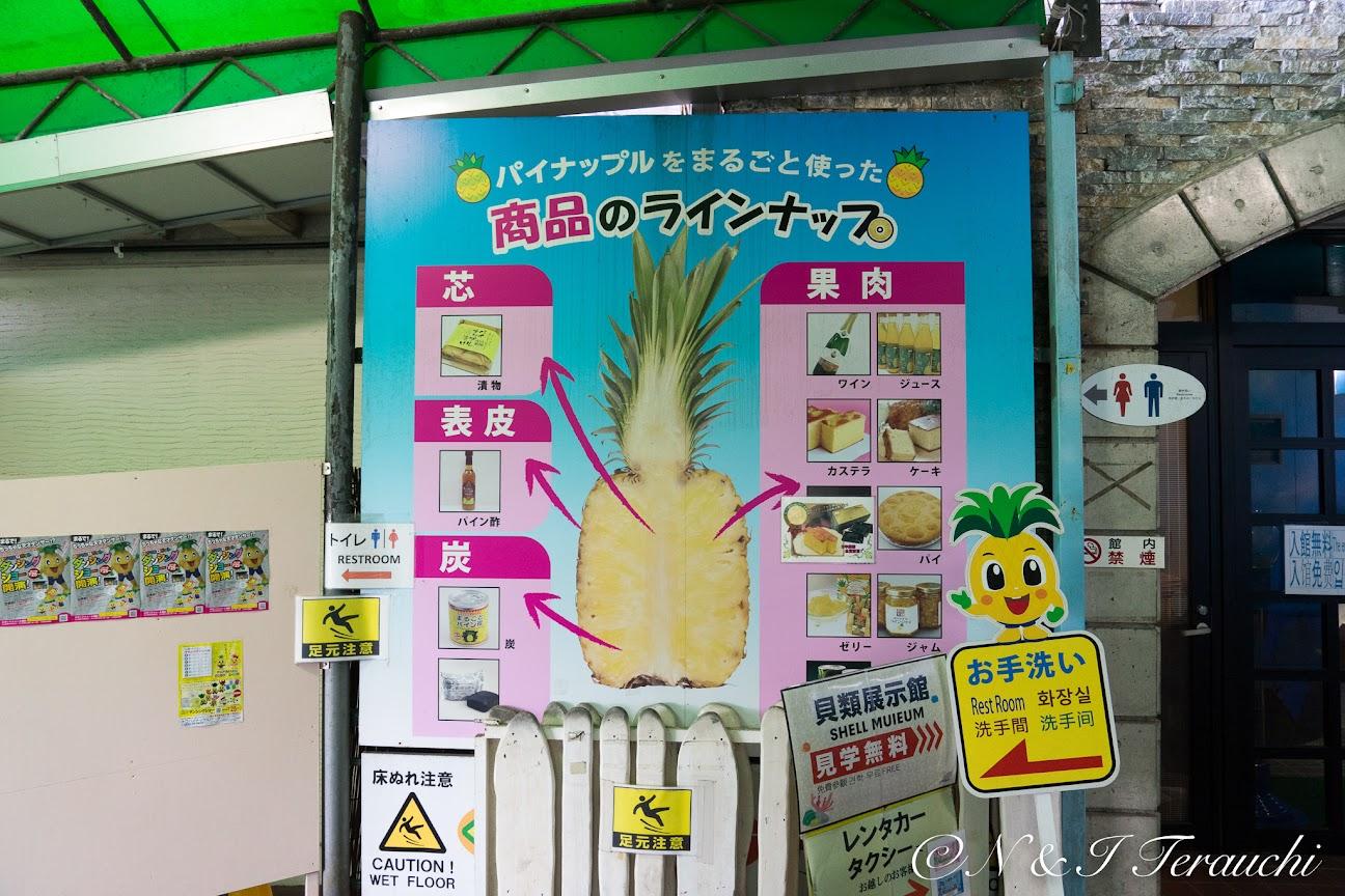 パイナップル商品のラインアップ