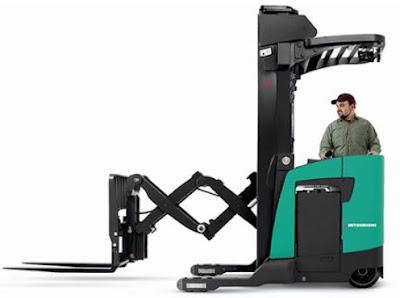Xe nâng double deep reach truck