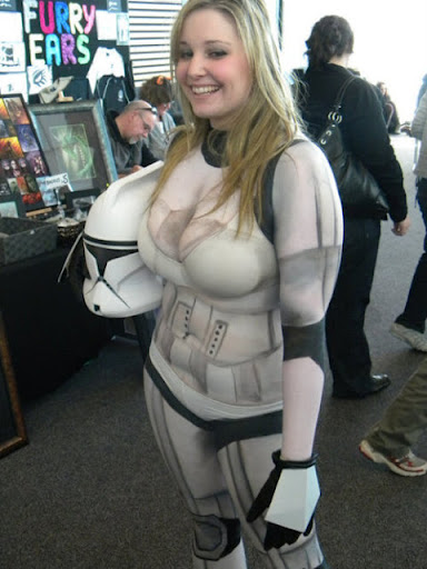 STAR WARS BODY PAINTED COSPLAY BABES 03