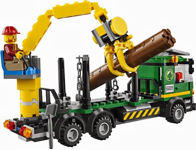 Khéo léo và chính xác nâng gỗ lên xe trong bộ xếp hình Lego City 60059 Logging Truck