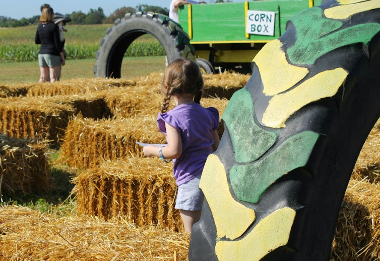 Hay Bale Maze for Kids - Deere Farms, Corydon Indiana