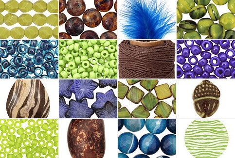 Pantone Peacock Bead Palette