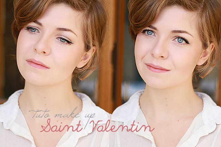 makeup de saint valentin, maquillage frais et naturel, quel maquillage pour un rendez-vous romantique, réussir un trait d'eyeliner, contouring léger