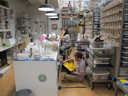 A busy craft room.