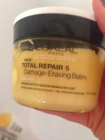 Advanced Haircare Total Repair 5 Damage Erasing Balm, Advanced Haircare Total Repair 5 Damage Erasing Balm review, damaged hair, hair mask review, L'oreal,