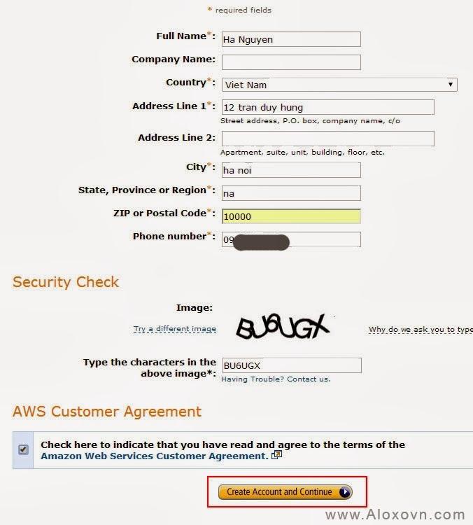 Thông tin tài khoản Email Amazon SES
