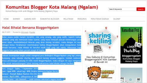 "Screenshot ""Halal Bihalal Bersama Bloggerngalam"""