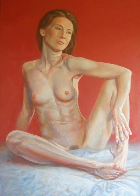 Desnudo,pintura en óleo de Jose Luis Romero Rodríguez