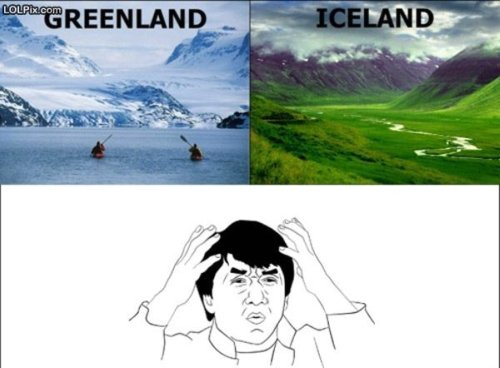 photo of Greenland and Iceland