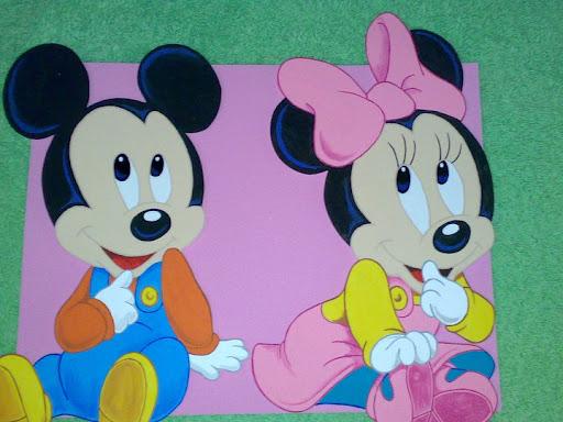 Bienvenidos con Mickey y Minnie Mouse en foami - Imagui