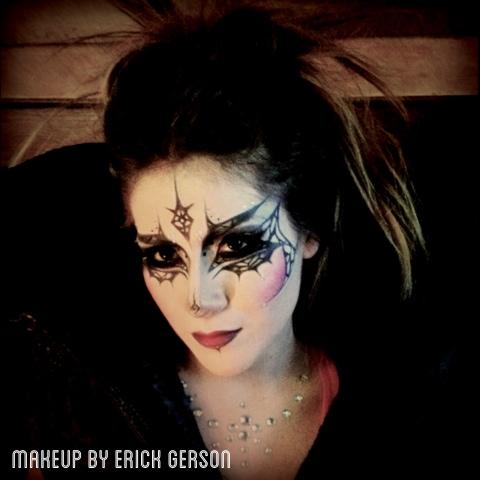 Erick G. Makeup Artist: Fun doing this abstract Halloween makeup