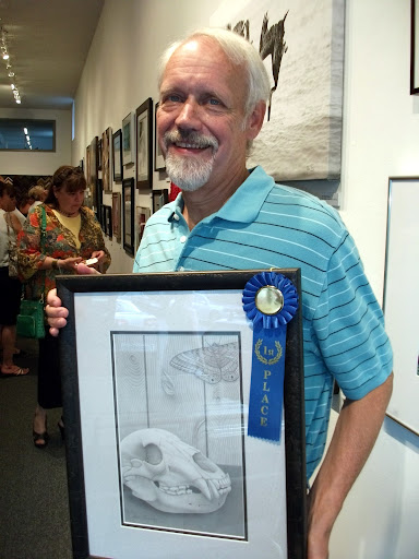 """First Place: """"Black Bear, Black Witch"""" by Steve Femmer. Graphite."""