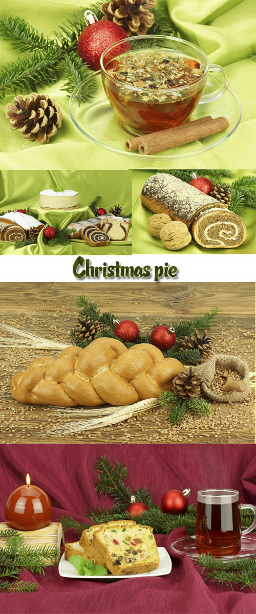 Stock Photo: Christmas pie