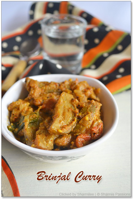 Brinjal Curry with Peanut Sauce Recipe