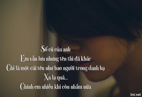 thơ nhớ người yêu cũ