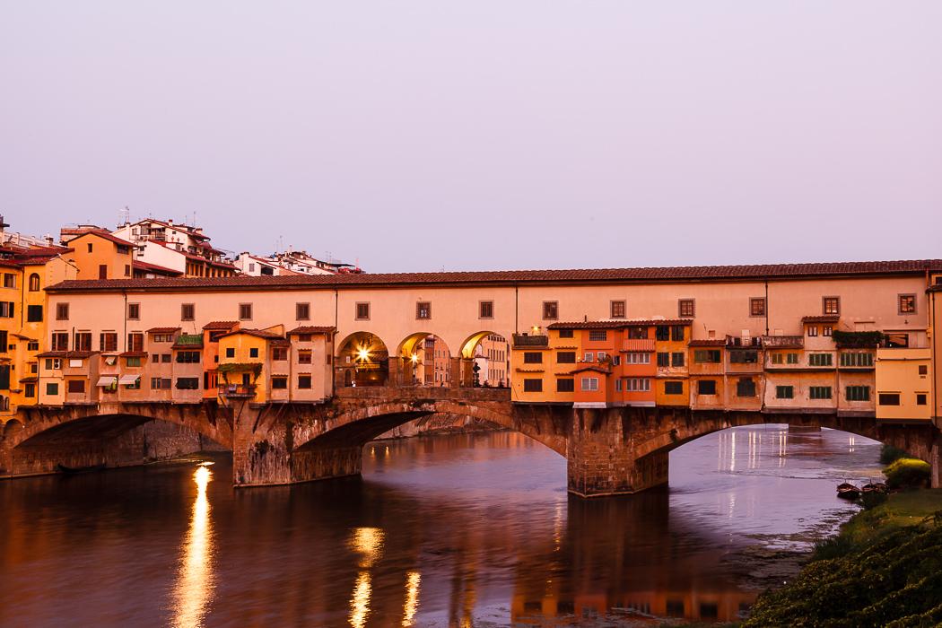 Флоренция - утренний Понте Веккьо