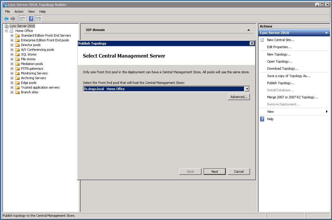 Unified Communications with Microsoft: Lync 2010 Deployment