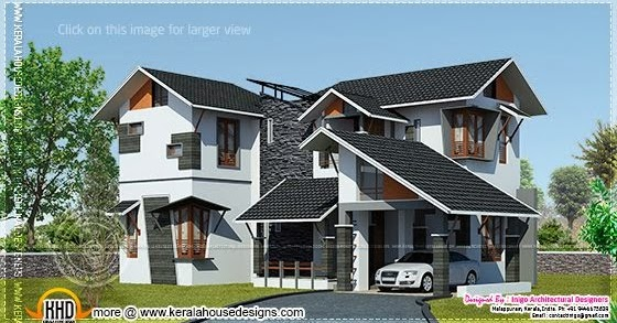 1700 Square Feet Modern 4 Bed Room Home Kerala Home