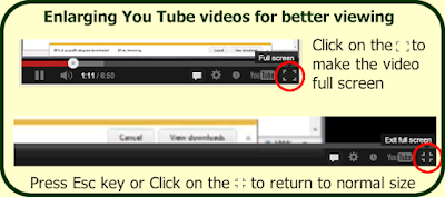 How to view You Tube videos at full screen