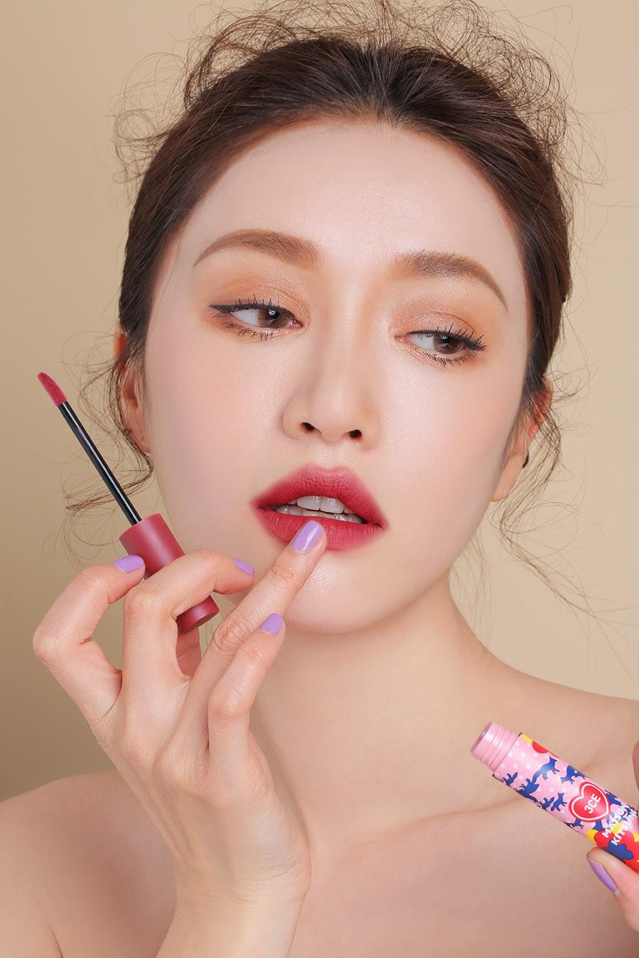 3CE Maison Kitsune Velvet Lip Tint Twin Rose