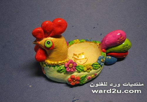 دجاجة و افراخها للديكور بعجينة الملح