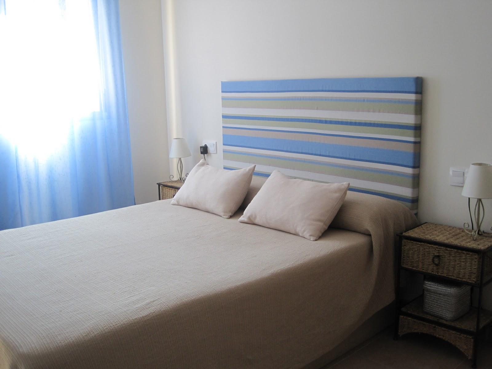 beautiful esta es nuestra habitacin me apeteca hacer este cabecero with hacer cabeceros tapizados - Como Hacer Un Cabecero De Tela