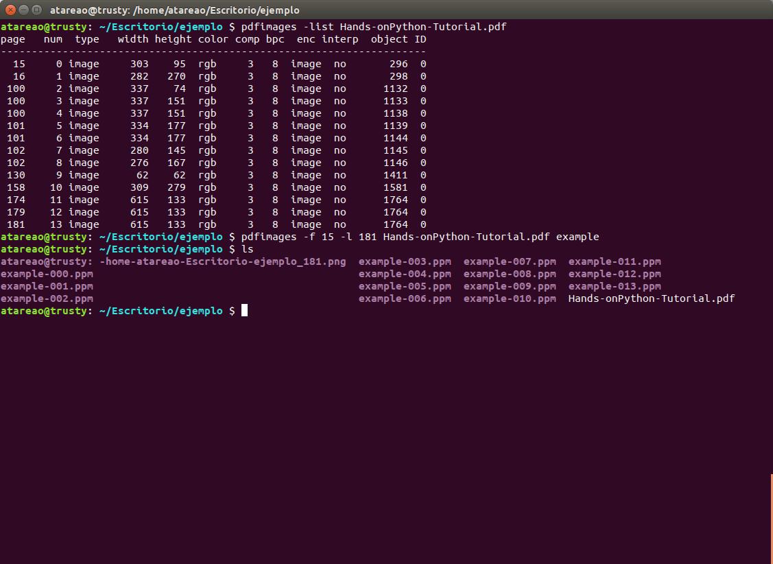 Trabajando con PDF desde el terminal en Ubuntu con poppler