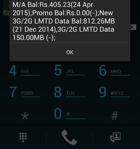 Check talk time data balance aircel airtel vodafone bsnl