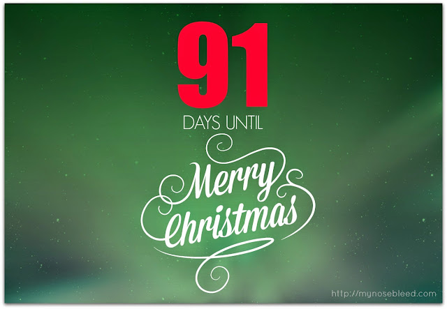 91 days to go before christmas