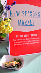 Portland Monthly's Country Brunch 2014 at Castaway benefiting Zenger Farm, New Seasons Market provided an extra brunch bite of Oregon Bounty Quiche with Ruby Hill Farm eggs, Olympic Provisions ham, spring onions from Gathering Together Farm, and Portland Creamery herbed goat cheese.