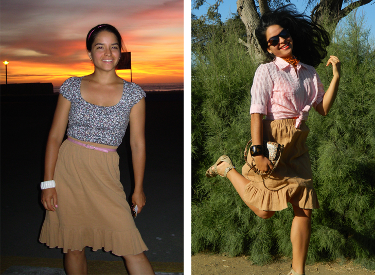 nude skirt what i wore challenge