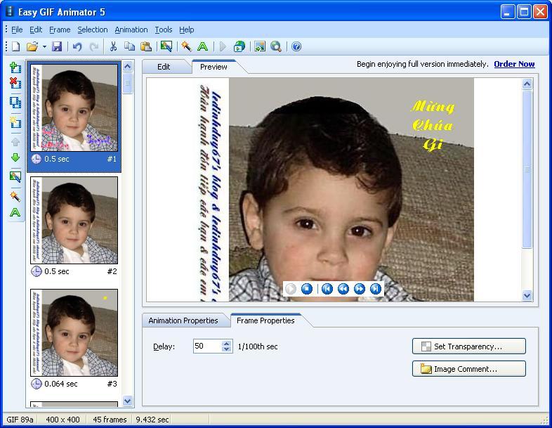 Easy GIF Animator 5.1 Pro Full - Phần mềm làm ảnh động - Image 09