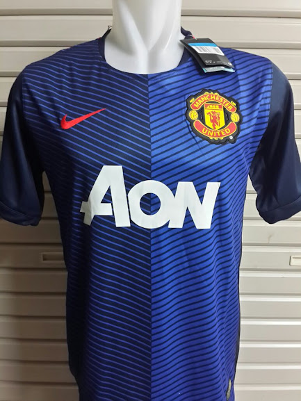 Jual Jersey Training Manchester United Biru 2014-2015