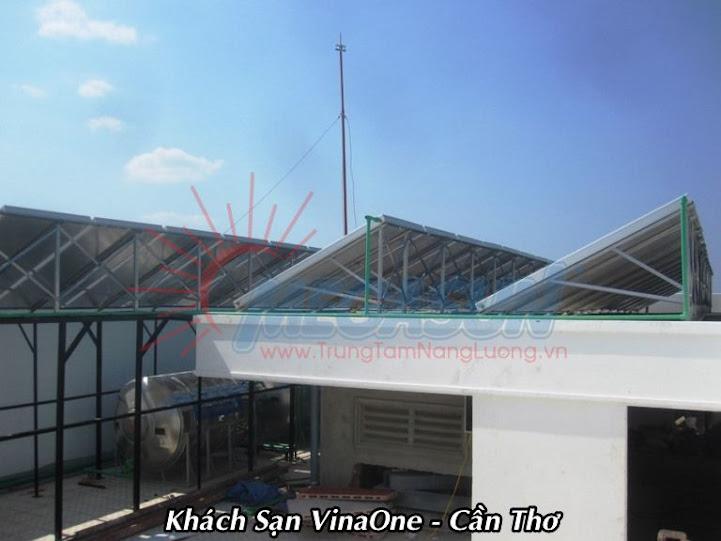 Hệ thống máy nước nóng NLMT tại Khách sạn Vinaone - Cần Thơ