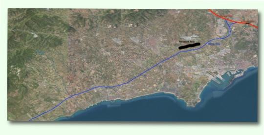 Mapa obres TGV a Tarragona