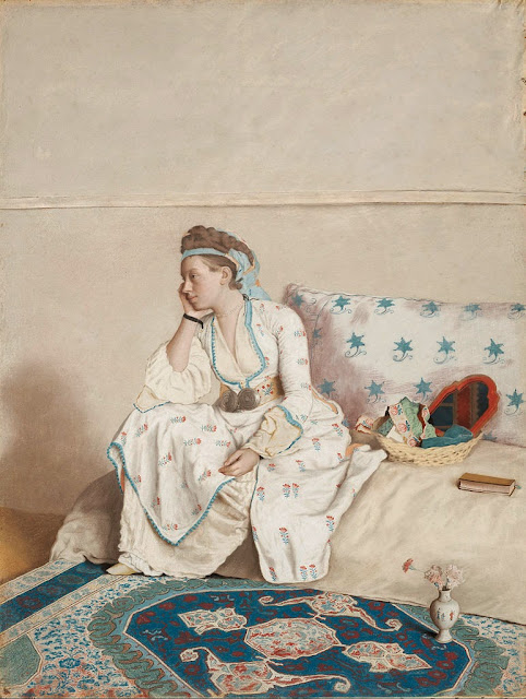 Jean-Etienne Liotard - Portrait of the artist's wife, Marie Fargues (ca.1718-1784), in Turkish dress