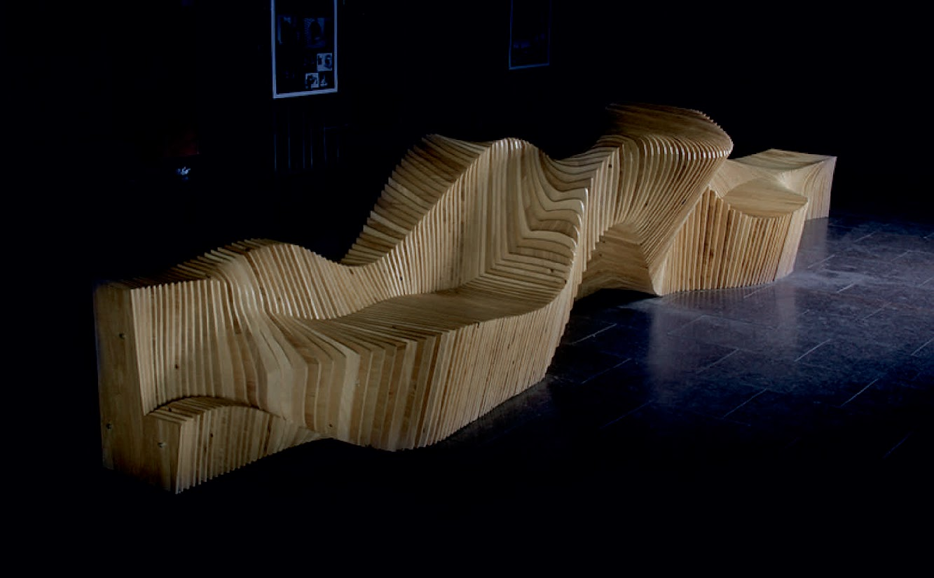 KG'MGarchitects studio: PARAMETRIC INTERACTIONS MULTIFUNCTIONAL BENCH by KAYGORODTSEV, MOGYLNYI, ZABAVSKA, TSUMAN, SAKH
