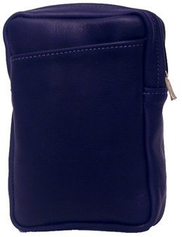 Vertical Leather Belt Pouch, TAUPE