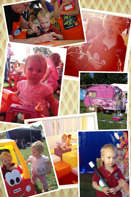 collage of photos of Blake and Maegan Clement having fun at Lollibop 2012 Regents Park London