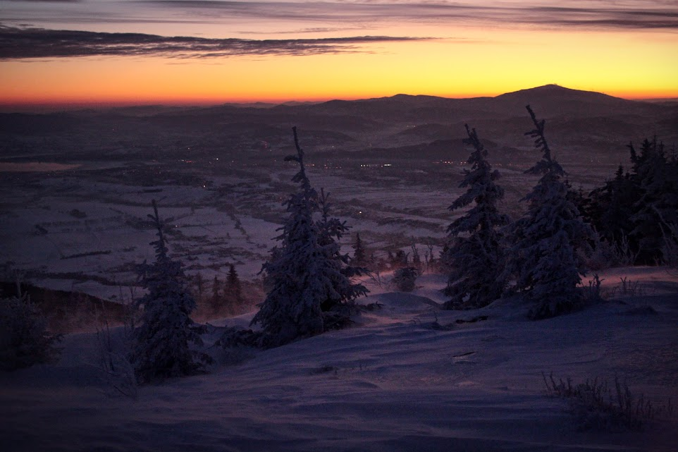 Wschód słońca na Skrzycznem