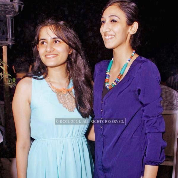 Gauri and Kawleen during the Retro Nights at AMPM Cafe & Bar in New Delhi.