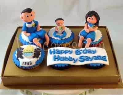 Vins cakes birthday cake cupcake wedding cupcake bandung persib theme junglespirit Image collections
