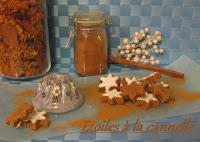 Bredele d'Alsace, les étoiles à la cannelle - recette indexée dans les Desserts
